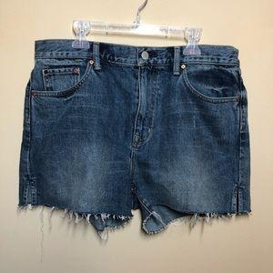 Gap hi rise cut offs denim frayed shorts